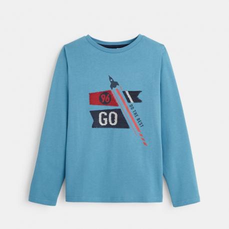 Okaidi T-shirt manches longues a sequins magiques