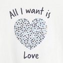 """Okaidi T-shirt a message """"All I want is... Flowers"""""""