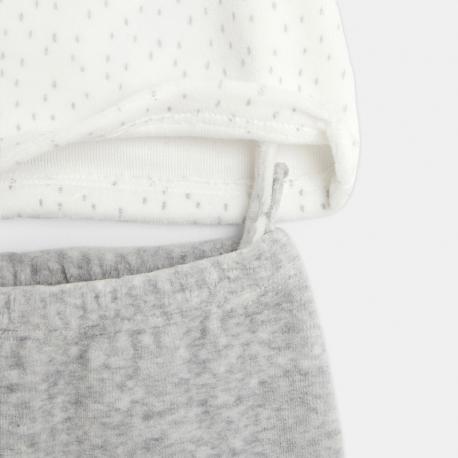 Obaibi Pyjama velours milleraies ourson