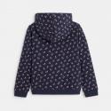 Okaidi Sweat-shirt a capuche motif petites fleurs