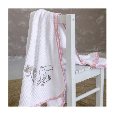 Κουβέρτα λίκνου πικέ Nima Bebe Toco Toucan 80 x 110 cm