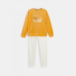 Obaibi Pyjama 2 pieces en velours motif ecureuil