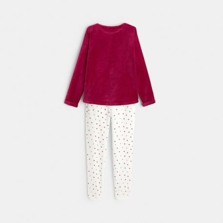 Obaibi Pyjama 2 pieces en velours motif etoile