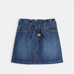 Okaidi Jupe courte ceinturee en jean