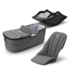 Σετ κάθισμα, port-bebe & αξεσουάρ καροτσιού Bugaboo Fox2 Style Set Grey Melange