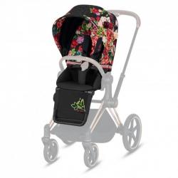 Σετ υφάσματα καροτσιού Cybex Platinum Priam Seat Pack Spring Blossom Dark Black