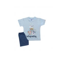 Σετ βρεφική μπλούζα και βερμούδα Pretty baby Sailing