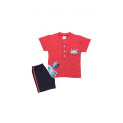 Σετ βρεφική μπλούζα και βερμούδα Pretty baby Κάβουρας