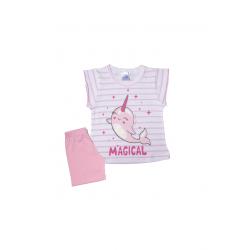 Σετ βρεφική μπλούζα και σορτσάκι Pretty baby Magical