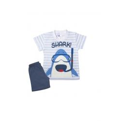 Σετ βρεφική μπλούζα και βερμούδα Pretty baby Shark