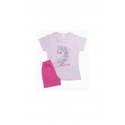 Σετ παιδική μπλούζα και βερμούδα Pretties Unicorn