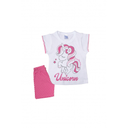 Σετ βρεφική μπλούζα και σορτσάκι Pretty baby Αλογάκι Unicorn