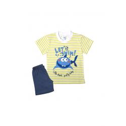 Σετ βρεφική μπλούζα και βερμούδα Pretty baby Let's Swim