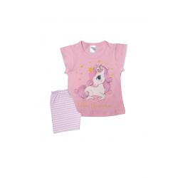 Σετ βρεφική μπλούζα και σορτσάκι Pretty baby Little Unicorn