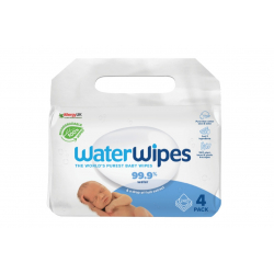 WaterWipes® βιοδιασπώμενα μωρομάντηλα 4 πακέτα 60 τεμαχίων