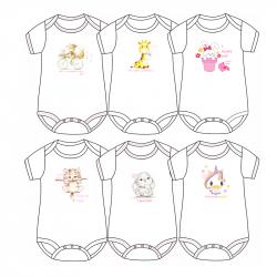 Κορμάκι Pretty baby® Cute 0-6 μηνών (1 τεμάχιο)