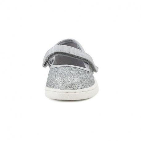 Παπούτσια TOMS Tiny Mary Jane Flats Silver Iridescent Glimmer