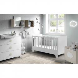Βρεφικό κρεβάτι Ros Soft White Blanco
