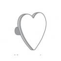 Κούνια Ros Soft White 60 x 120 cm με χερούλι καρδούλα Gris Perla
