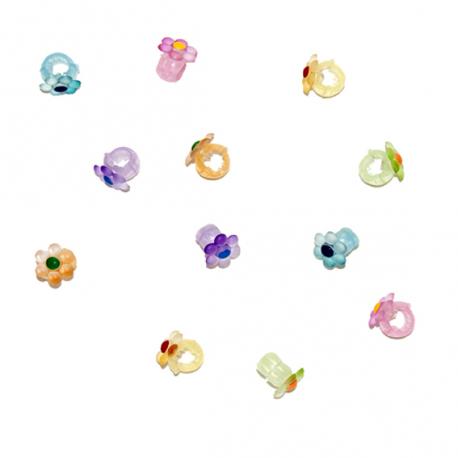 Κλιπσάκια G&P Accessories Λουλούδι σετ των 12