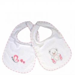 Σαλιάρα πετσετέ Baby Star Sweet Dots 33 x 20 cm