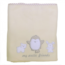 Κουβέρτα fleece Baby Star Arctic Friends 100 x 150 cm