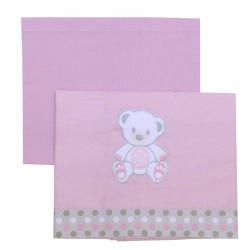 Σεντόνια καλαθούνας Baby Star Sweet Dots σετ των 2