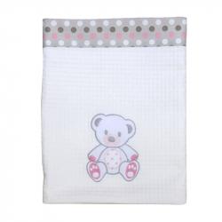 Κουβέρτα πικέ Baby Star Sweet Dots 75 x 100 cm