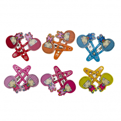 Κλικ-κλακ G&P Accessories Κοριτσάκι σετ των 2