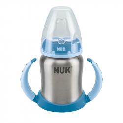NUK® ανοξείδωτο εκπαιδευτικό μπιμπερό First Choice 125 ml 6M+