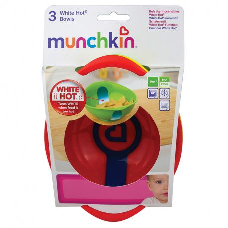 Munchkin μπολ ασφαλείας με ειδοποίηση υπερθέρμανσης White Hot®
