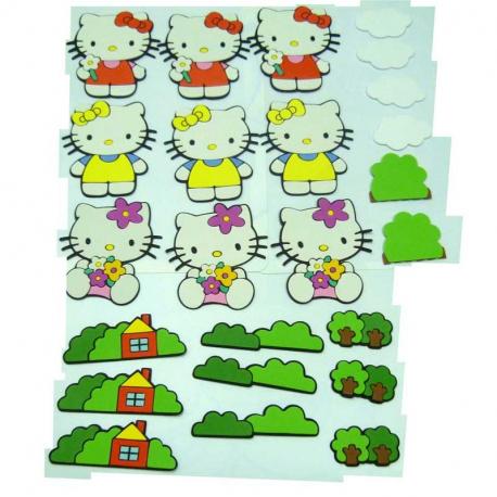 Φιγούρες τοίχου Hello Kitty