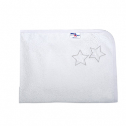 Σελτεδάκι Baby Star Μπροντερί Λευκό 40 x 60 cm