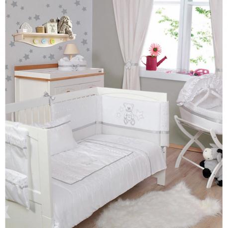 Προίκα Baby Star Μπορντερί Λευκό σετ των 3