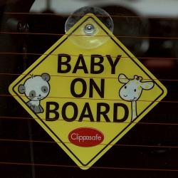 "Clippasafe σήμα αυτοκινήτου ""Baby on Board"""