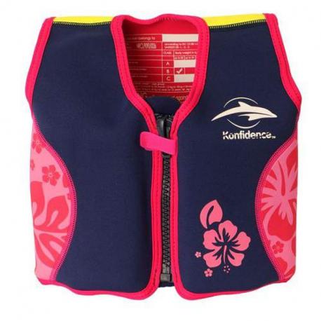 Σωσίβιο - γιλέκο Konfidence™ Original Jacket Hibiscus 18-36 μηνών
