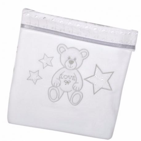 Κουβέρτα πικέ Baby Star Μπροντερί Λευκό 100 x 150 cm