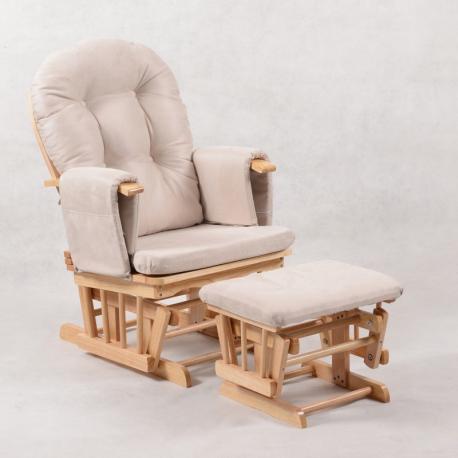 Πολυθρόνα θηλασμού Wooden Ind. Angel Nature