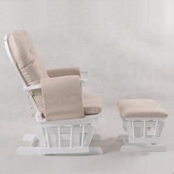 Πολυθρόνα θηλασμού Wooden Ind. Angel White