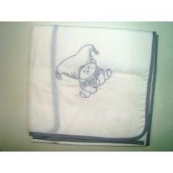 Πάνα πικέ Nona Bebe με κέντημα Θησέας 80 x 80 cm