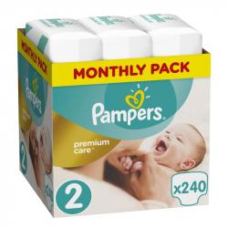 Πάνες monthly pack Pampers® Premium Care No 2 (4-8 kg) 240 τεμάχια