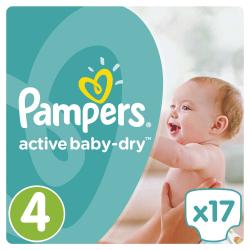Πάνες Pampers® Active Baby-Dry No 4 (8-14 kg) 17 τεμάχια