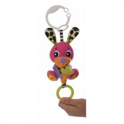 Μαλακό λαγουδάκι καροτσιού Playgro™ Peek-a-Boo Wiggling Bunny