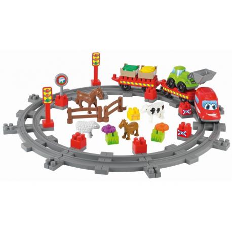 Σετ τουβλάκια Ecoiffier Abrick Τρένο στην εξοχή