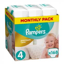 Πάνες monthly pack Pampers® Premium Care No 4 (8-14 kg) 168 τεμάχια