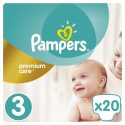 Πάνες Pampers® Premium Care No 3 (5-9 kg) 20 τεμάχια