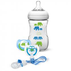 Philips-Avent σετ δώρου Elephant μπιμπερό 260 ml, πιπίλες και κλιπ (SCD627/01)