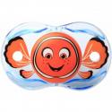 RaZbaby® πιπίλα Keep-it-kleen Finley Fish 0-36M με αυτόματη κάλυψη θηλής