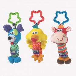 Κουδουνίστρες οδοντοφυΐας Playgro™ Tinkle Trio σετ των 3