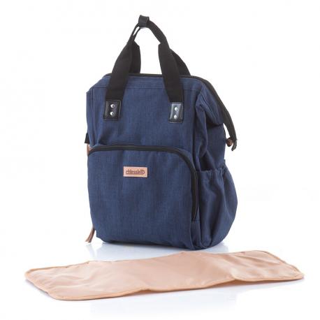 Τσάντα - αλλαξιέρα πλάτης ChipoLiNo Denim Frappe